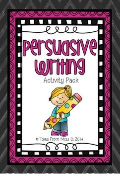 This pack will provide you with resources to teach persuasive writing to your class.  Included in this pack;  * What is Persuasive Writing? Poster * Structure - poster outlining what each paragraph contains * Sequencing Phrases Poster * Persuasive Phrases Poster * Example Text * Example Text Ordering Activity - put the example text in the correct order * 2 Graphic Outlines - For student planning * 24 Persuasive Writing Prompts