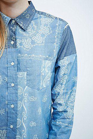 Denim & Supply Ralph Lauren Bandana Shirt in Blue - Urban Outfitters