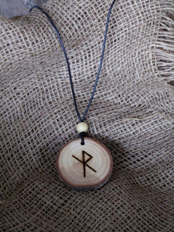 Travel amulet, Bind Rune Pendent, Talisman. Safe Travel, Ash wood, Rahd, Alqiz, OOAK, by Touchwoodcraft on Etsy