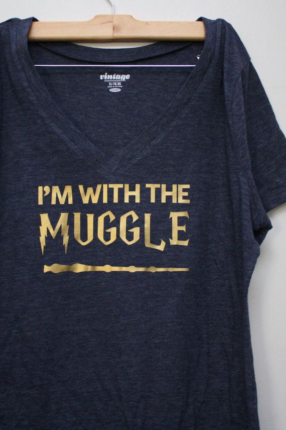 Harry Potter I'm With the Muggle Shirt by RaeGun on Etsy