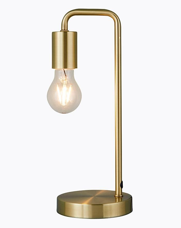 Exposed Bulb Bedside Table Lamp In 2020 Table Lamp Bedside