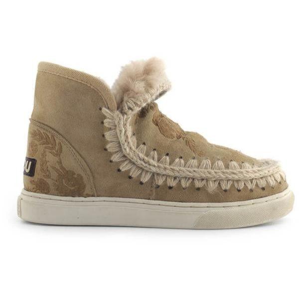 Mou Boots Eskimo Sneaker Embroidery Camel - MOU