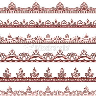 free henna border designs