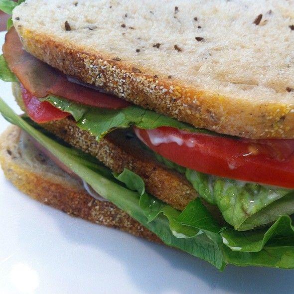 Prosciutto, Mozzarella, Tomato Sandwich @ Gill Garamond's Home
