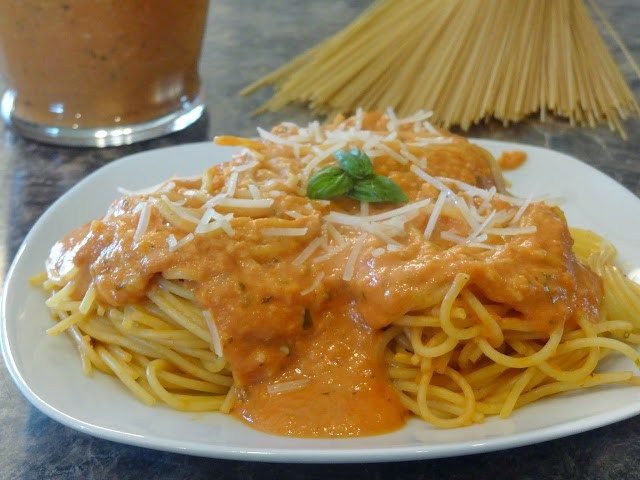 Pioneer Woman's Tomato Cream Sauce   One year for Mother's Day, I wanted a pasta dish for Dinner. I found a recipe from the Pioneer Woman I was curious about, so I asked Kevin to m…