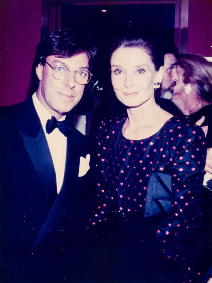 Frans Molenaar with Audrey Hepburn