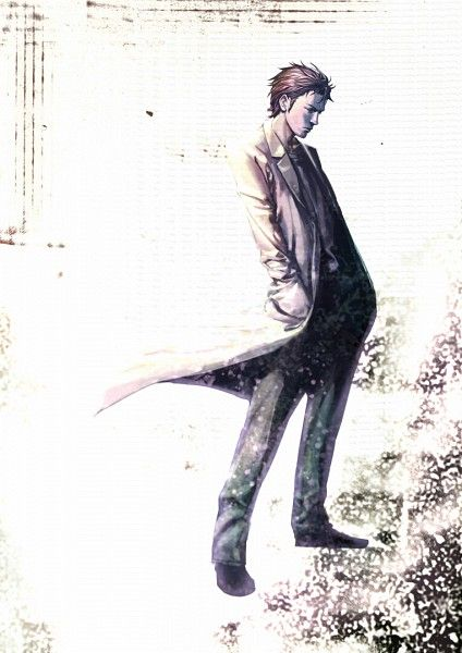 Okabe Rintarou...I feel like this portrays him best, come the second half of the show.