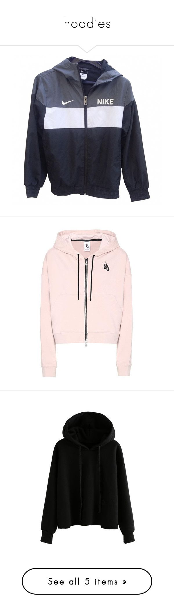 """""""hoodies"""" by frontrowmendes ❤ liked on Polyvore featuring outerwear, jackets, coats & jackets, tops, zipper jacket, nike, nike jackets, blue jackets, zip jacket and hoodies"""