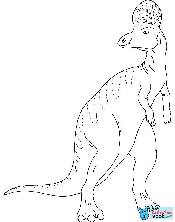 Hadrosaurus Coloring Pages
