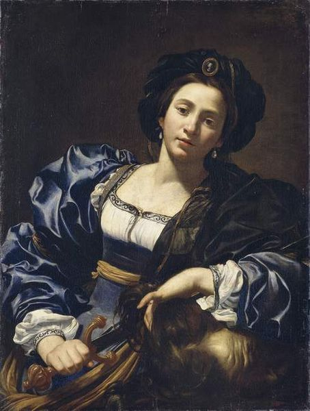 """Simon Vouet, """"Judith with the Head of Holofernes,"""" 1615-27, oil on canvas, 96.8 x 73.3 cm, Old Pinakothek of Munich, Munich, Germany"""