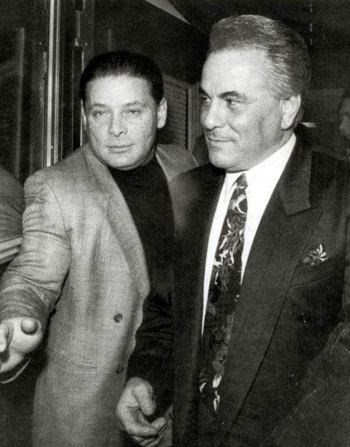 "Sammy ""The Bull"" Gravano and John Gotti http://pinterest.com/susanstein18/john-gotti/"