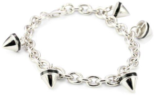 """Nicky Hilton Sterling Silver Spike Charm Bracelet with Black Enamel Nicky Hilton. Save 40 Off!. $150.00. Made in Thailand. Caring for """"the Nicky Hilton collection"""": rinse in warm water and pat dry with soft cloth"""