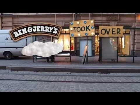 Ben & Jerry's innovatepysäkki Aleksanterinkadulla, toukokuu 2014.