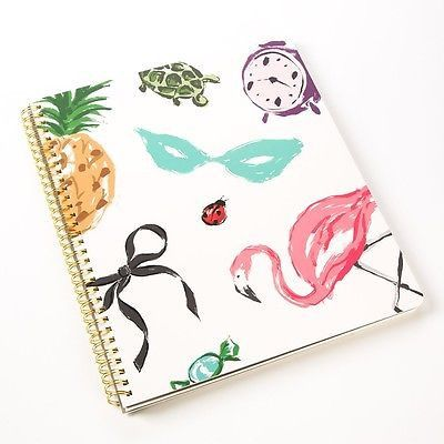 """Lots of ideas call for lots of space, and this Kate Spade notebook featured in """"Favorite Things"""" will certainly fulfill that need! - 9.5 x 11"""" - 160 lined pages - Gold Spiral - Interior pocket Kate Sp"""