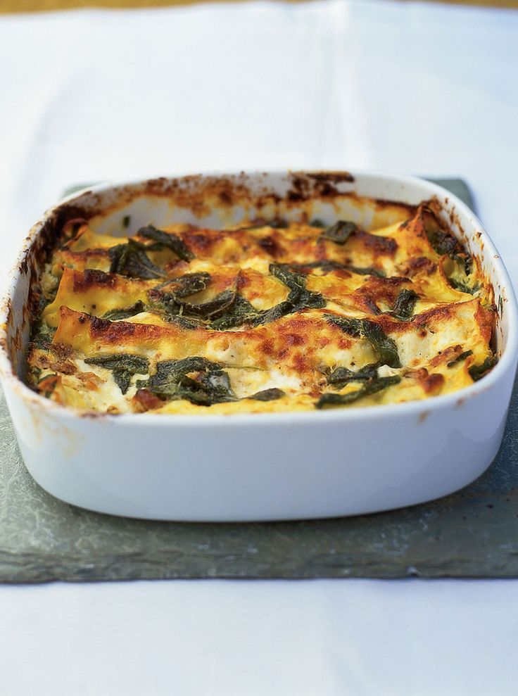 Try these simple cannelloni – they're great as a vegetarian alternative.