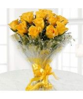 Bouquet Of #Yellow Roses:  These sunlit #roses are a symbol of friendship and care. Perfect way to show your #friends how special they are to you.
