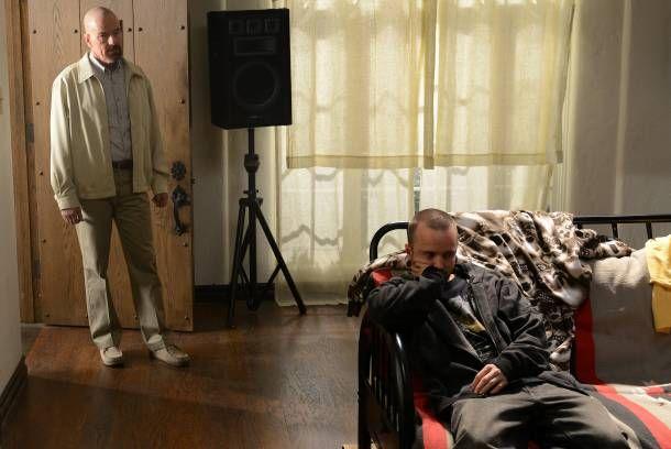 SPOILERS  Walter White (Bryan Cranston) and Jesse Pinkman (Aaron Paul) - Breaking Bad _ Season 5, Episode 9 - Photo Credit: Ursula Coyote/AMC