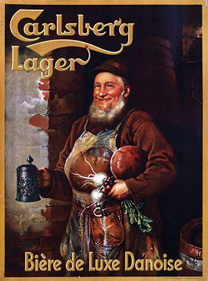 Carlsberg Lager, bière de luxe danoise - 1930 -
