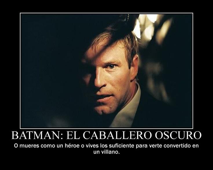 """Frase de la pelicula """"Batman: El caballero oscuro"""""""