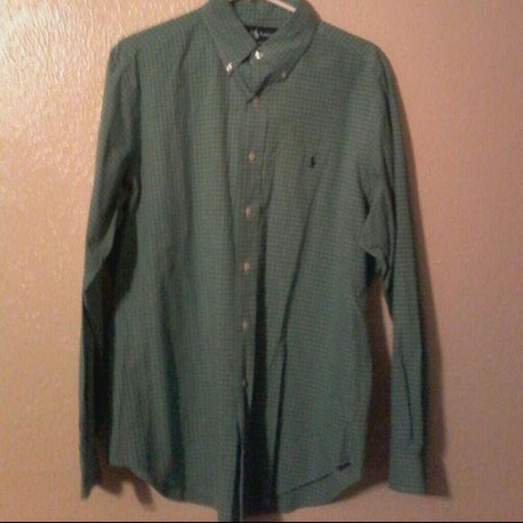 Ralph Lauren polo men shirt Gently worn in excellent condition men size 16 34-35 Ralph Lauren Tops Button Down Shirts