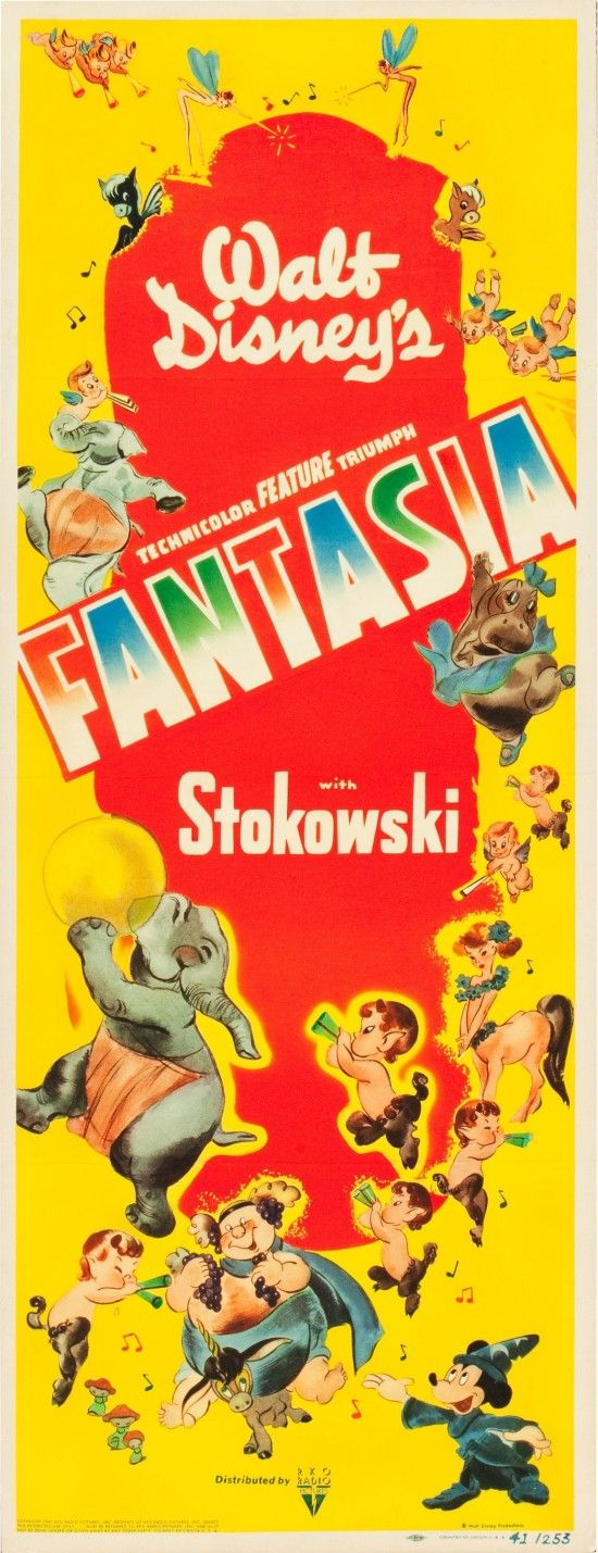 Disneys Fantasia ....Vintage Movie Poster Would look great in a childs room with a vintage feel...so colorful! #Disney, #movieposters