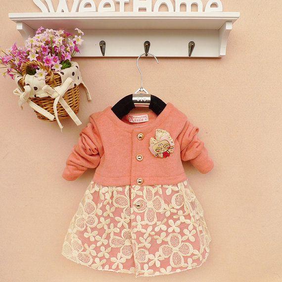 2y,3y,4y baby girl jacket baby girl clothes autumn spring coat kid pink jacket via Etsy