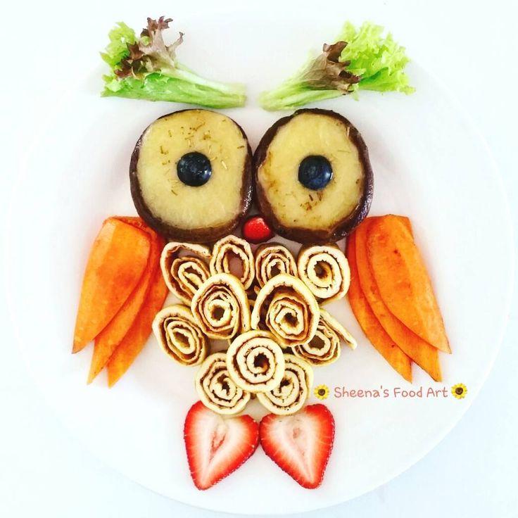 Owl snack by Sheena Tan (@sheena0316)