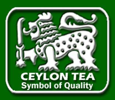 Ceylon Tea Symbol of Quality stamp with Lion with the Sword image, indicates Sri Lanka government guarantee 100% Ceylon tea, grown, picked and packed in Sri Lanka