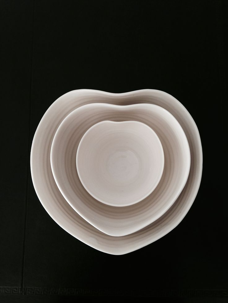 Beautiful handmade heart bowls