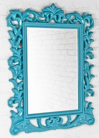 i could spray paint that old plastic framed mirror i have for a great splash of