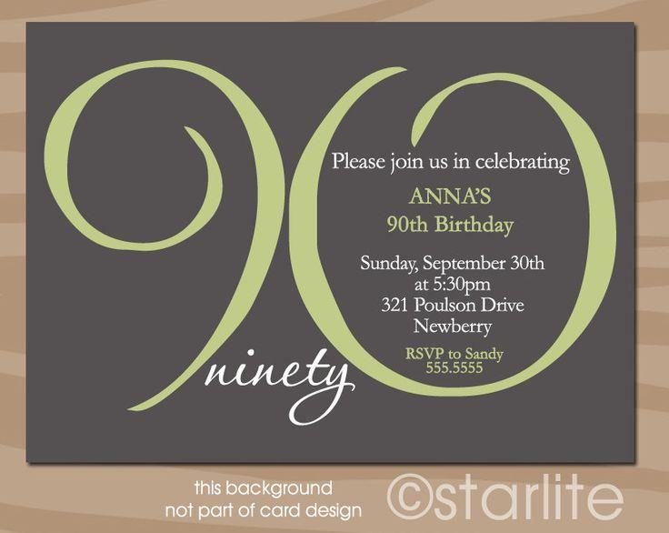 best 25+ 90th birthday invitations ideas on pinterest | 80th, Birthday invitations