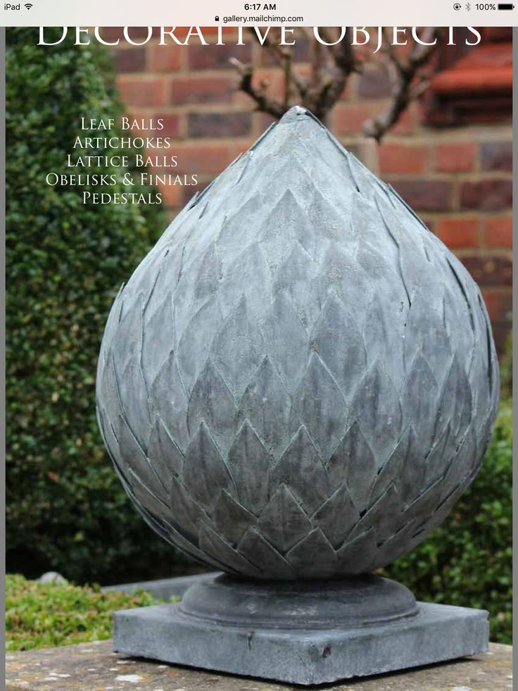 Sample of zinc finish. A Place In The Garden 2016 catalogue