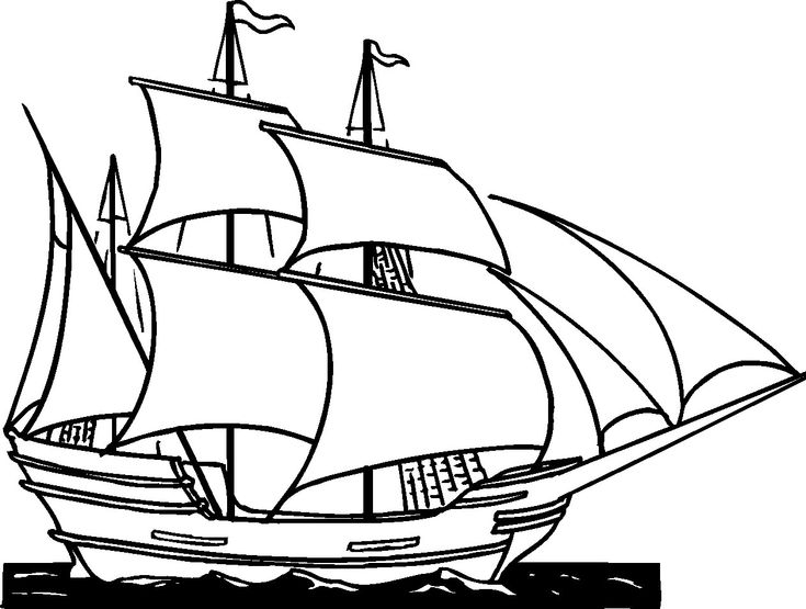 british sailing warship coloring pages - photo#27
