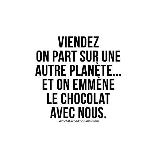 Viendez on part sur une autre planète… Et on emmène le chocolat avec nous