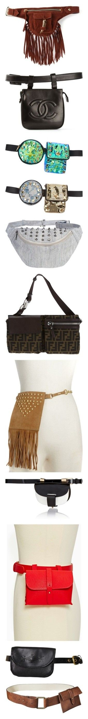 """""""The return of the fanny pack .."""" by aidasusisilva ❤ liked on Polyvore featuring fannypack, pochete, bumbag, bags, bum bag, fanny bag, brown bag, waist bag, suede fringe bag and belts"""