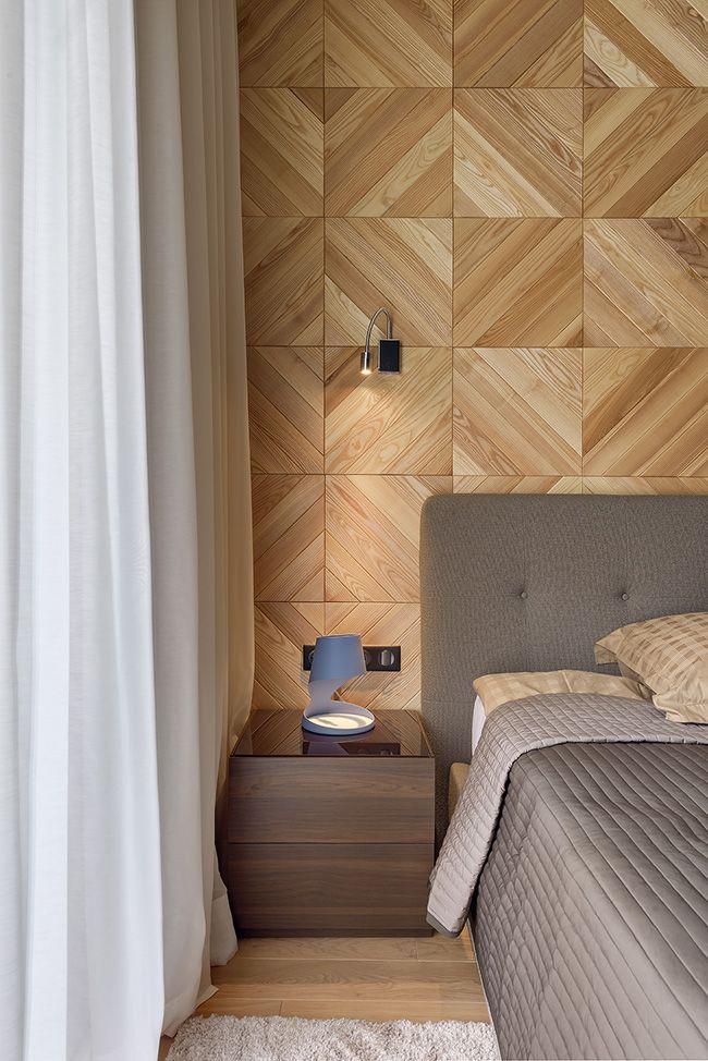 Wooden Panels 3d Rack In Bedroom As A Headboard Wall Wall Panels Bedroom New Bedroom Design Wooden Wall Panels