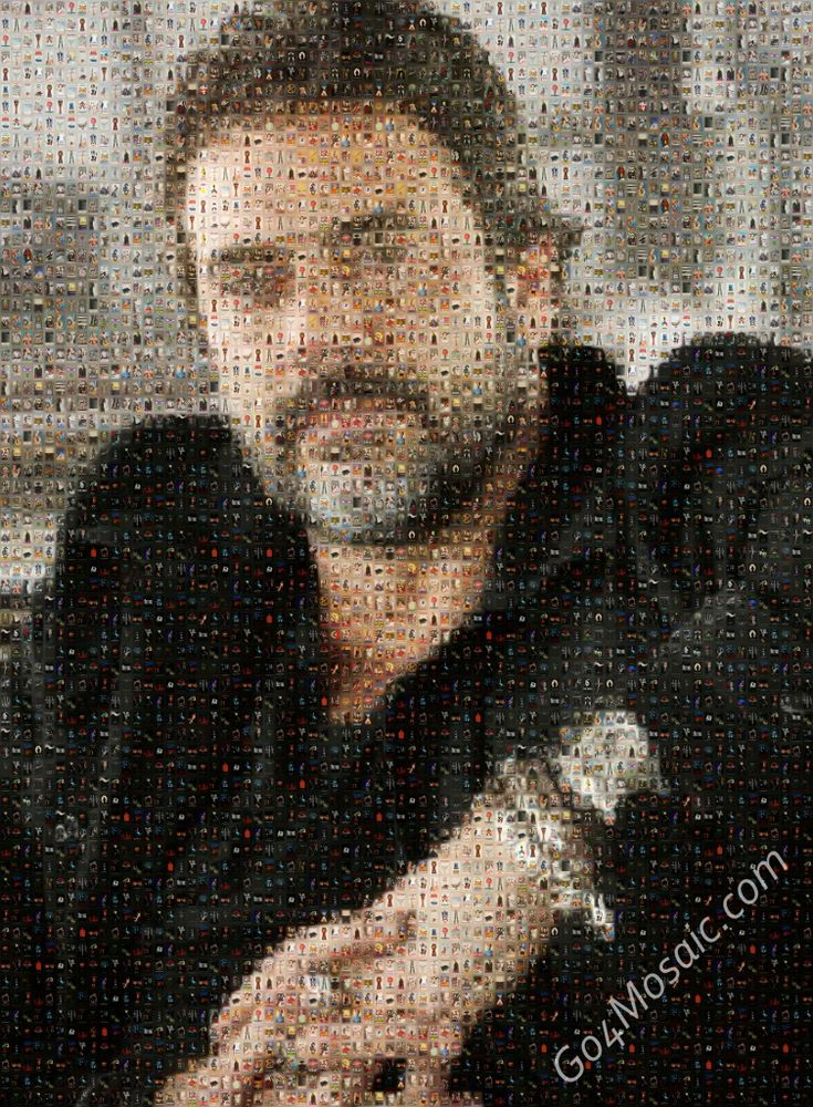 Jeffrey Dean Morgan mosaic from Movie Posters - Go4mosaic Blog - Easy to use! - No software download needed! - No registration required! - FREE Mosaics up to 4000px! www.go4mosaic.com