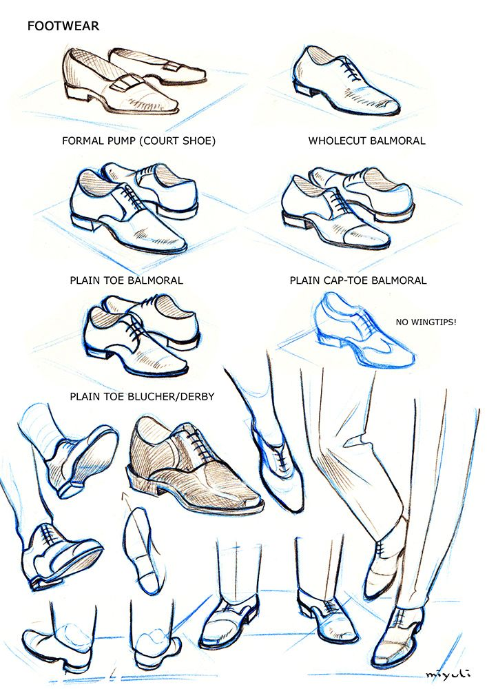 how to draw anime clothes shoes