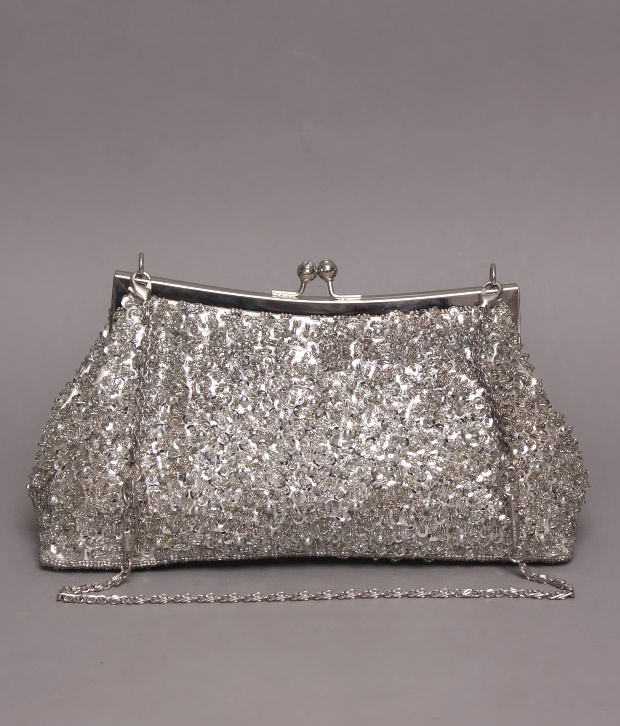 #Snapdealbestproducts http://www.snapdeal.com/product/bolso-silver-sequins-bead-metal/203720?pos=2;3282