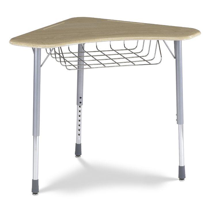 Student Desk - Boomerang Shape - Adjustable Height - Sitting Height