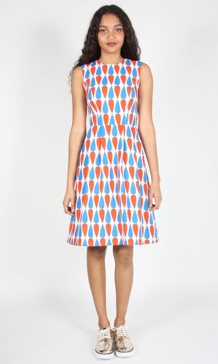 Gravateiro Dress- Red/Blue