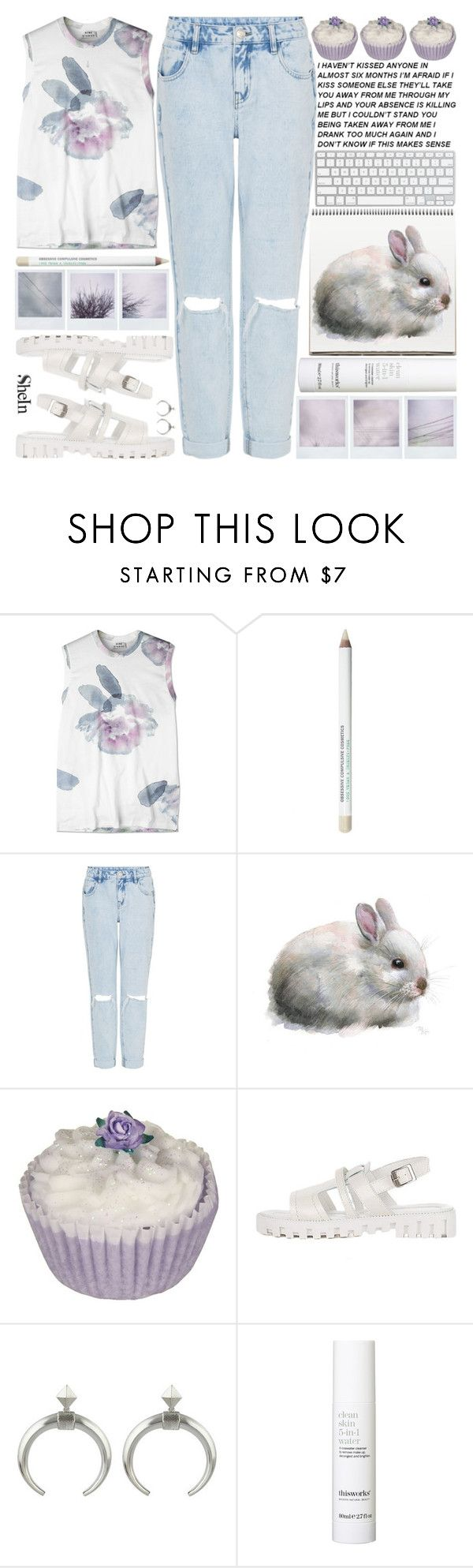 """""""THANK YOU FOR 90K FOLLOWERS!! ILY (〃´∀`)"""" by alienbabs on Polyvore featuring Acne Studios, This Works, clean, organized and shein"""