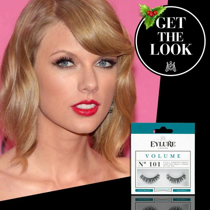 Get the 'Taylor Switft' look met de Eylure Volume lashes # 101