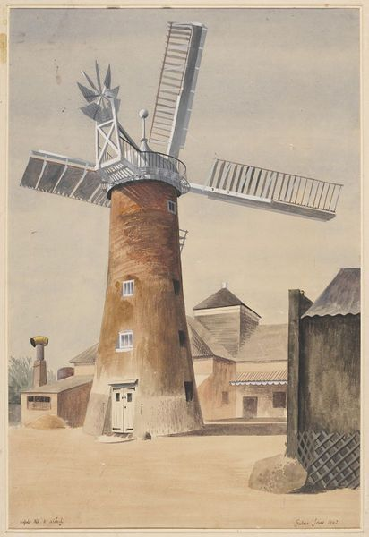 Barbara Jones for the Recording Britain project (1942):The Mill, Walpole Highway, near Wisbech;