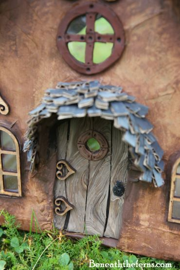 Fairy door for miniature fairy house by beneaththeferns: