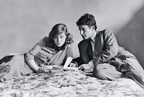 Lady Caroline Blackwood and Freud on honeymoon in 1949
