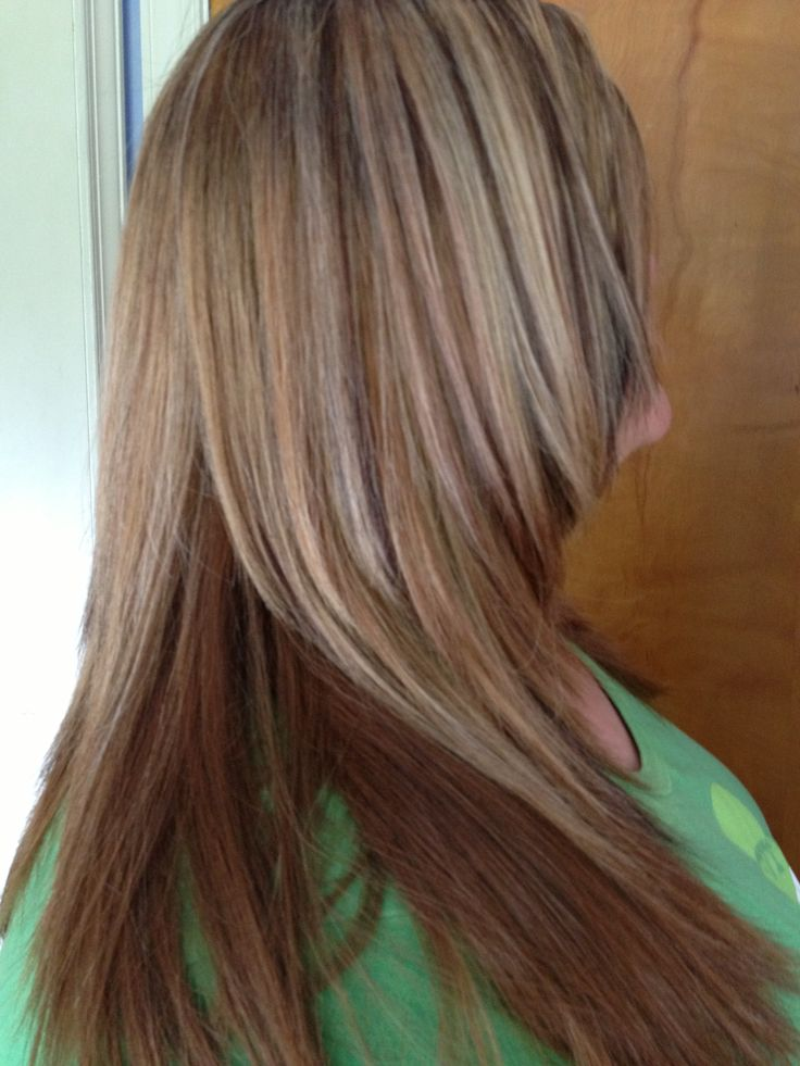 Red Copper Brown Gold Brown And Blonde Foils Hair Sara