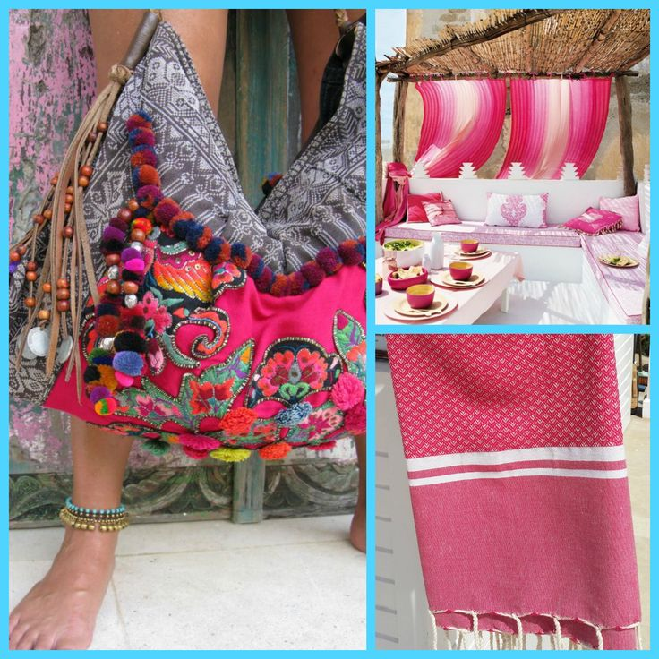 Fouta Sousse in pink. ZusenZomer.nl