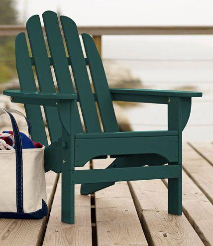 Classic Wooden Adirondack Chair: Adirondack At L.L.Bean