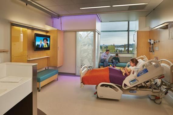 Hospital Space Planning : Patient rooms were designed to be universal allow the